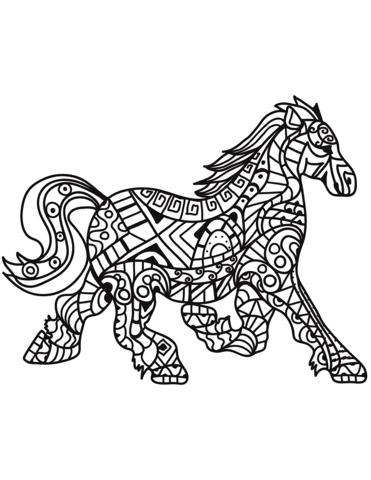 Caballo Corriendo Para Colorear Dibujo De Caballo Mustang Corriendo