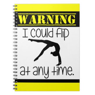 Gymnastics I Could Flip At Anytime Notebook