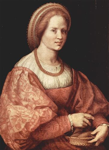 Portrait of a Lady with Spindle Cup - Andrea del Sarto