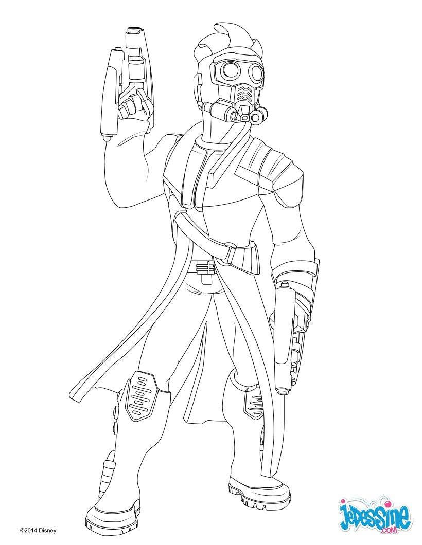 Coloriages Star Lord Les Gardiens De La Galaxie Frhellokidscom