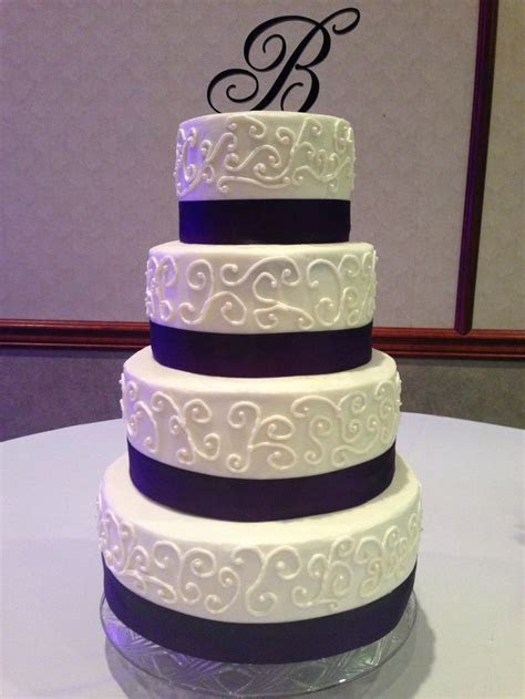 Scroll work wedding cake   My Wedding   Pinterest