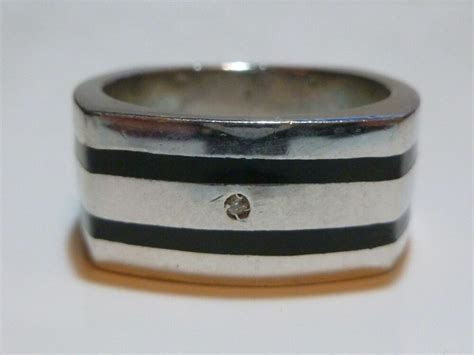 MENS FASHION / ENGAGEMENT WEDDING STERLING SILVER ONYX