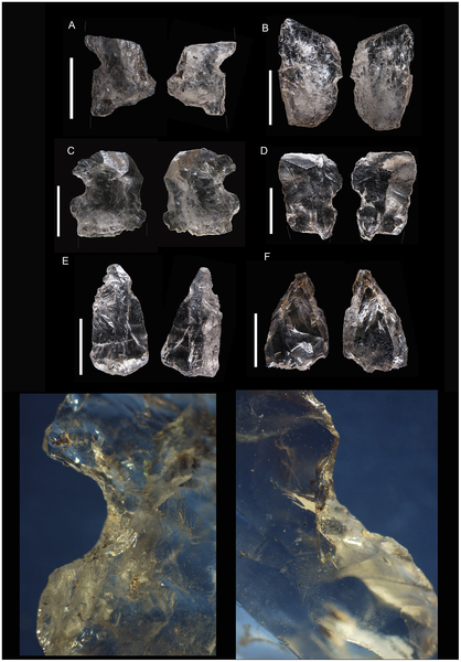 Figura 17 Diferentes ejemplos de cuarzo muescas piezas.