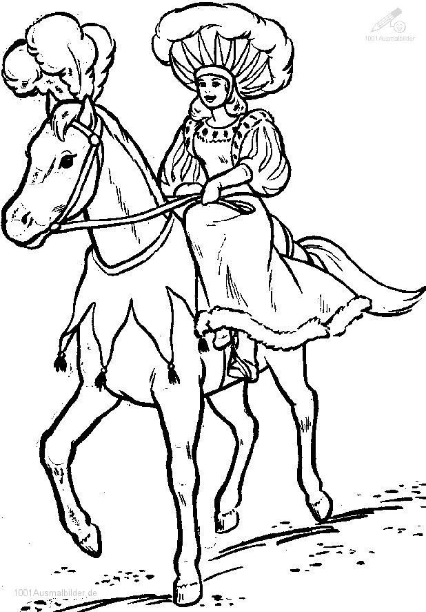 malvorlagen pferd und reiter - kinder zeichnen und ausmalen