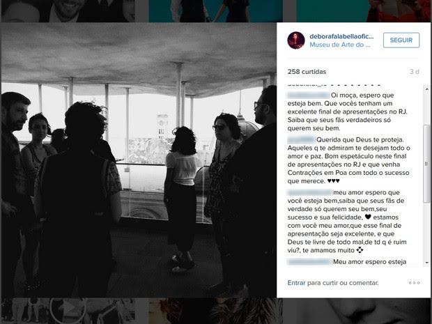 Fãs prestaram solidariedade à atriz nas redes sociais. (Foto: Reprodução/ Instagram)