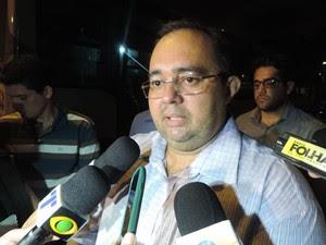 Alberisson Carlos, presidente da Associação de Cabos e Soldados (Foto: Luna Markman / G1)