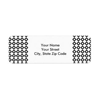 White and Black Diamond Pattern return address lab Custom Return Address Label