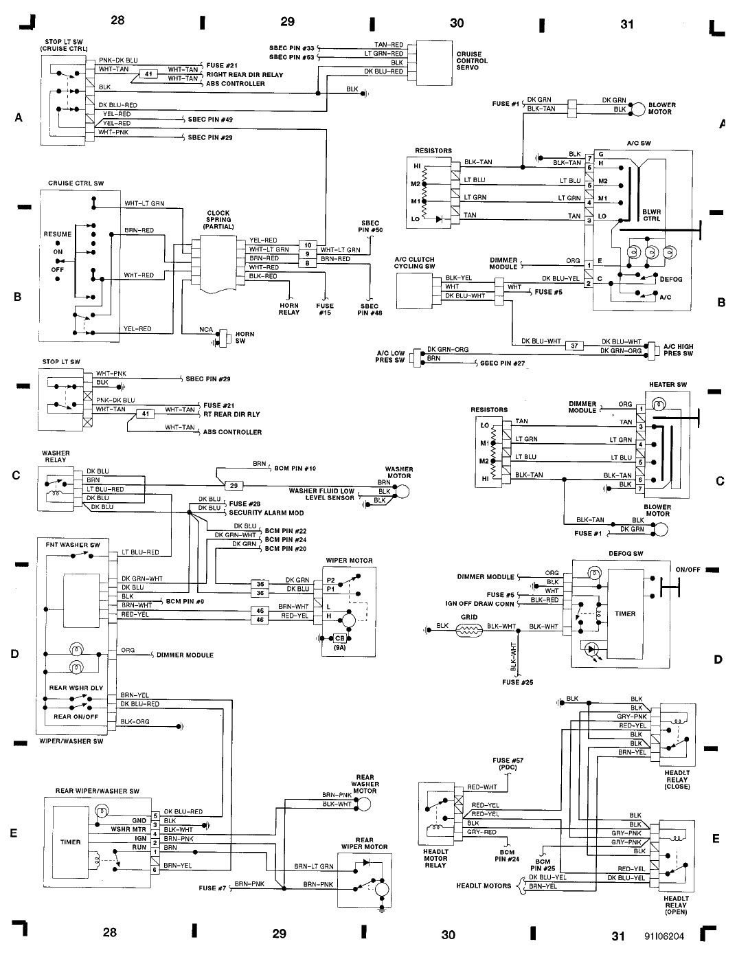 Chrysler Alarm Wiring Diagram