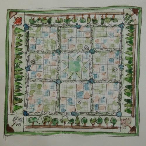 Woodland Quilt sketch