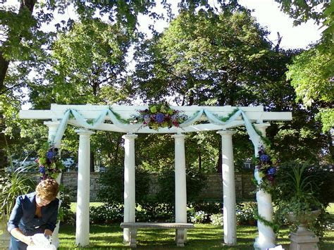 Wedding pergola decorated for ceremony   Wedding