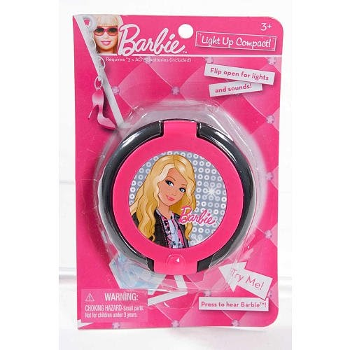 Mattel Toys Barbie Light Up Compact Makeup Mirror With