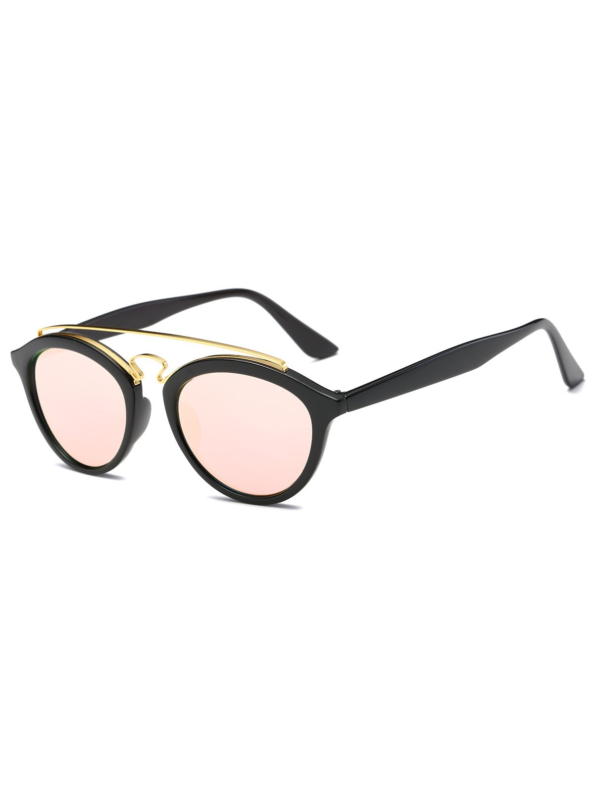 Metallic Crossbar Mirrored Trendsetter Sunglasses