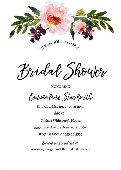Print   Free Wedding Shower Invitation Template