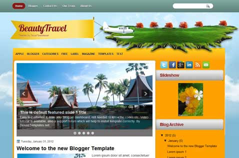 beautytravel-blogger-template