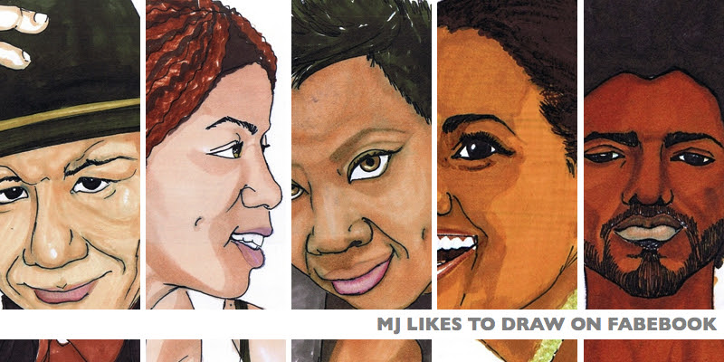 portrait illustration freelance lettraset markers | MJ's Sketchbook