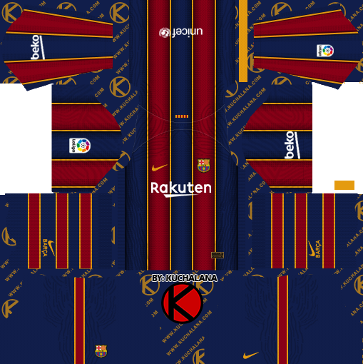 F.C. Barcelona 2020-21 Nike Kit - DLS2019