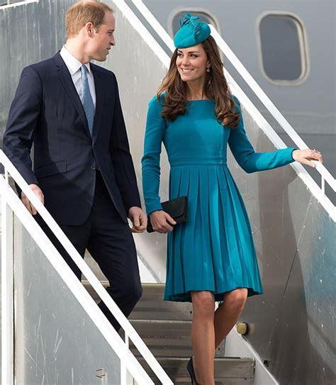 ROYAL TOUR: Kate Middleton?s turquoise blue pleated dress