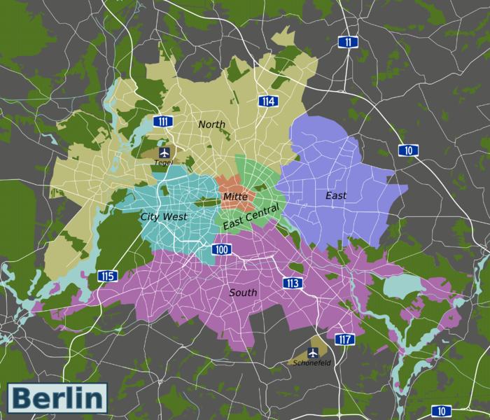 карта берлин