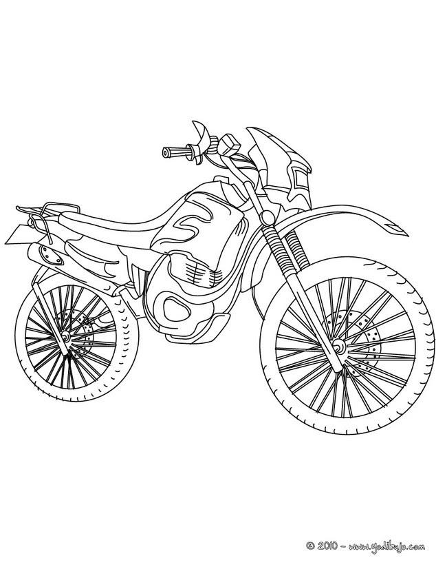 Dibujos Para Colorear Moto Deportiva Eshellokidscom
