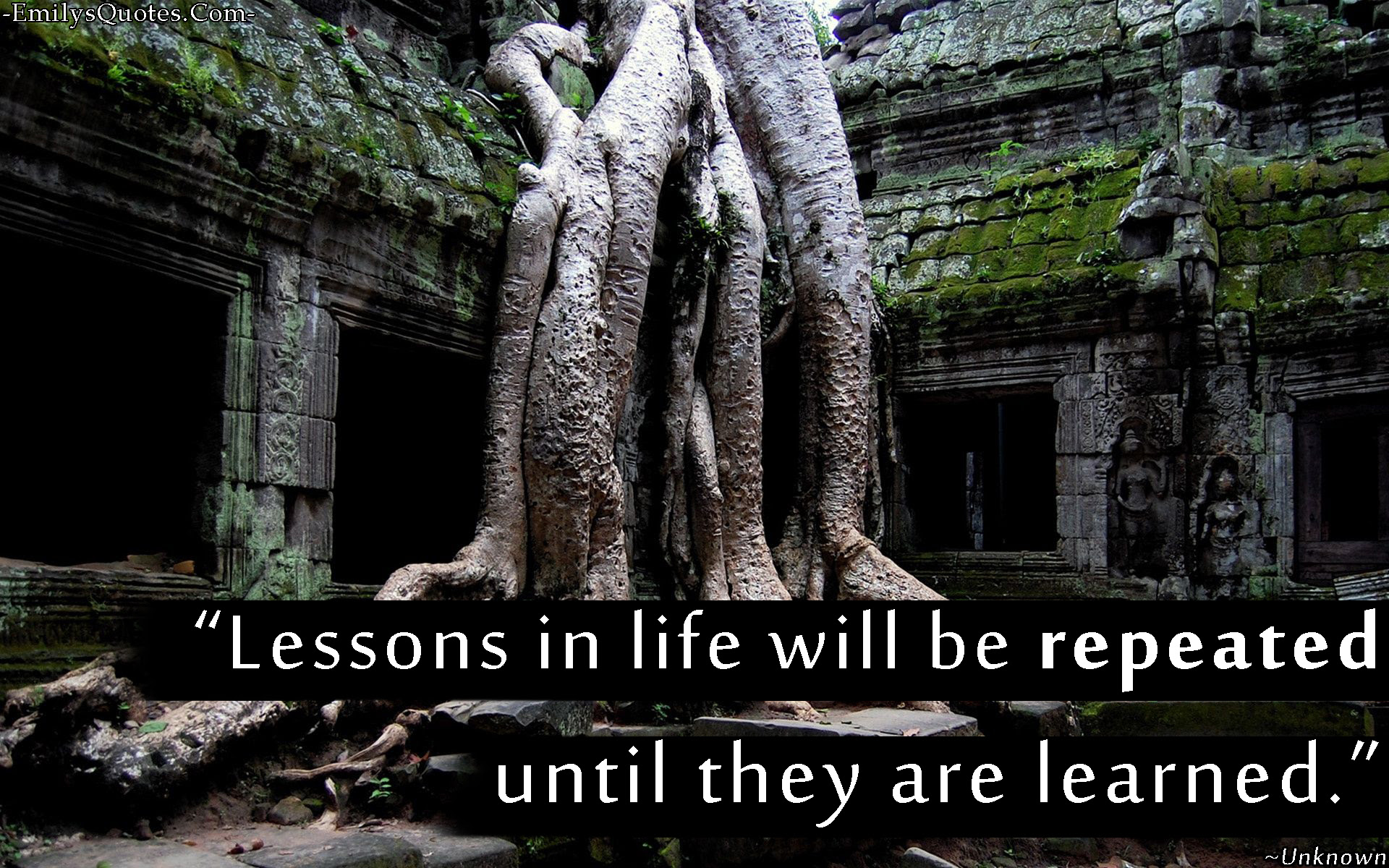 Lessons In Life Will Be Repeated Until They Are Learned Popular