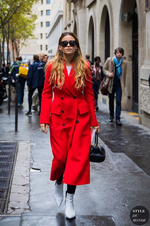 Le Fashion Blog 15 Red Coats Fashion Girls Are Wearing This Fall Via Style Du Monde Miroslava Duma Street Style
