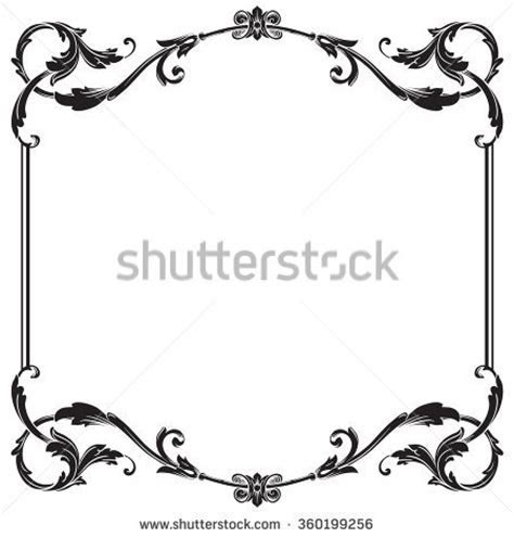 Damask clipart scrollwork   Pencil and in color damask