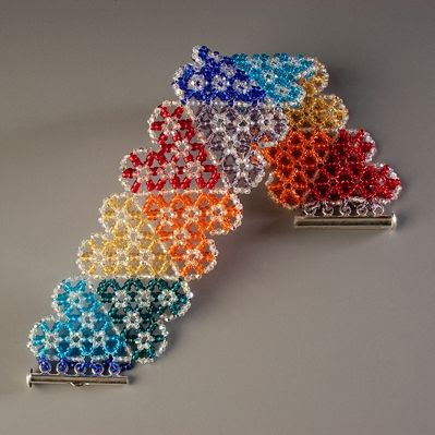 Beadwork by Laura M. Shea featured Eye Candy in Bead-Patterns.com Newsletter!