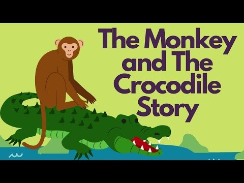 The Monkey and Crocodile Story in Hindi with English subtitles
