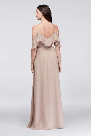Cold Shoulder Long Bridesmaid Dress   David's Bridal