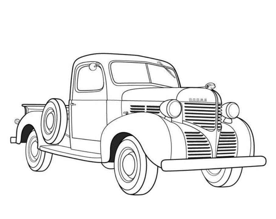 Pickup Truck Coloring Pages  Coloring Home
