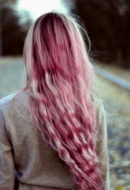 color, colored hair, colors, curly, curly hair, cute, girl, girly, hair, pink, pink hair, pretty