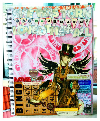 She was torn...an art journal page