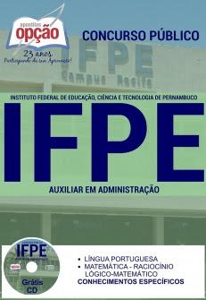 Instituto Federal de Educação, Ciência e Tecnologia de Pernambuco (IFPE)-AUXILIAR ADMINISTRATIVO-ASSISTENTE DE ALUNOS