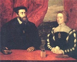 Carlos V e Isabel de Portugal, por Tiziano