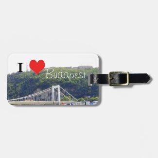 I heart Budapest Travel Bag Tag