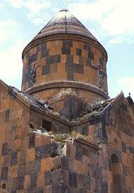 Church called Kizil Kilise in Yagikesen, 15 km north of Ani. Click for more. (VirtualANI)
