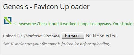 favicon uploaded