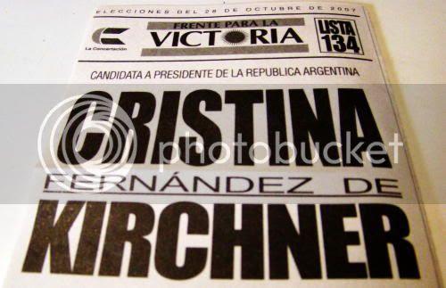 Presidential ballot for Cristina Fernández de Kirchner