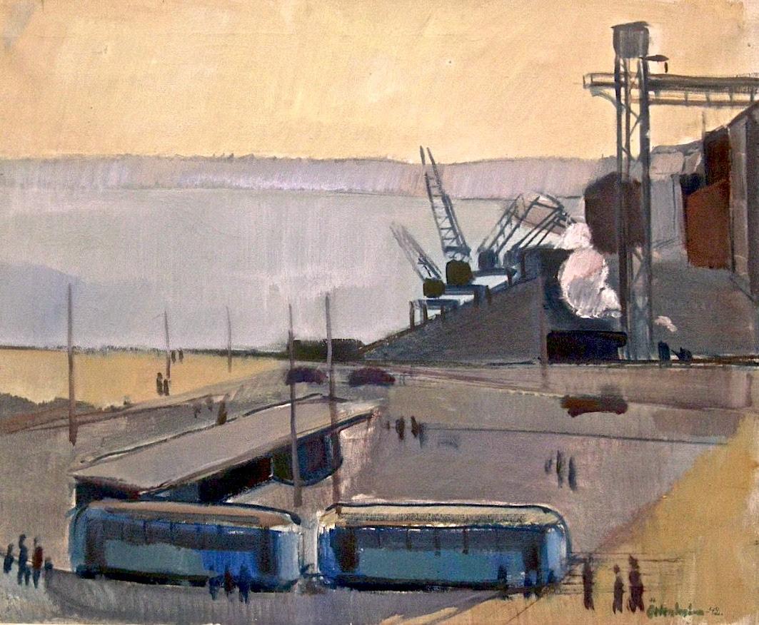 Götrik Örtenholm, Södermalmstorg, 1942
