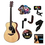 Yamaha FS720 Small Body Acoustic Guitar Bundle w/Legacy Accessory Kit (Tuner, Picks, DVD andMuch More)