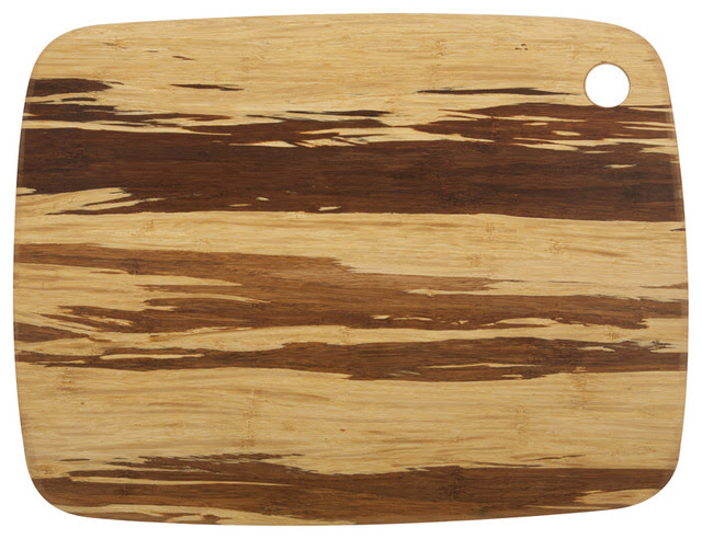 Large Crushed Bamboo Cutting Board - modern - knives and chopping ...