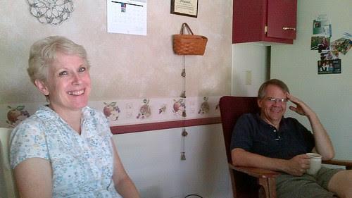 2012-07-27 Nancy and Jon Swanson at home