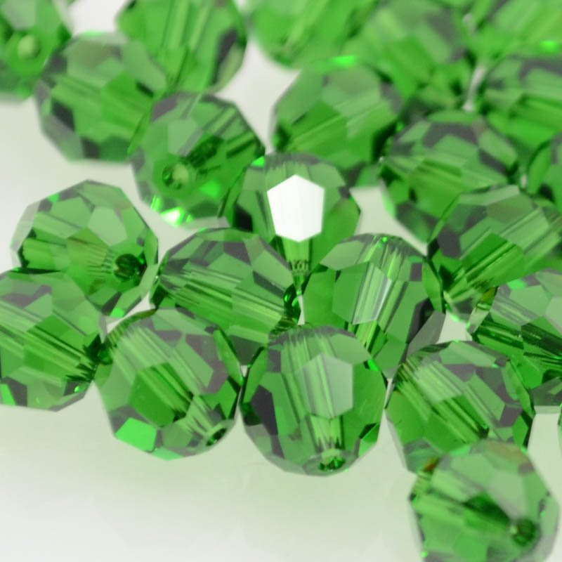 27750002221260 Swarovski Elements Bead - 8 mm Faceted Round (5000) - Dark Moss Green (1)