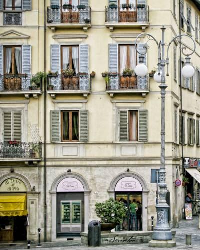 Tuscany Arezzo Streetscape