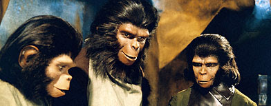 PLANET OF THE APES, Roddy McDowall (left), Kim Hunter (right), 1968. (20th Century Fox Film Corp./Everett Collection)