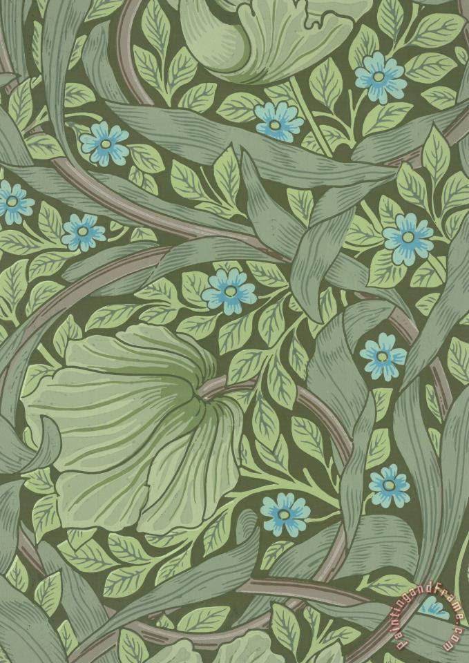 William Morris Wallpaper Sample with Forget Me Nots painting  Wallpaper Sample with Forget Me