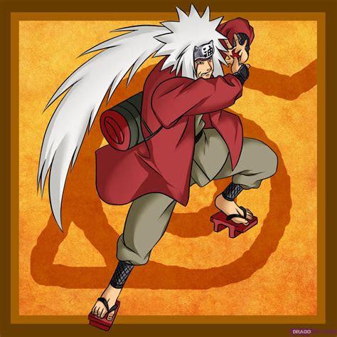 draw jiraiya step  step naruto characters