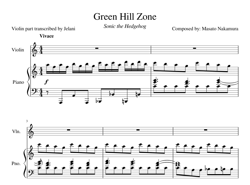 Green Hill Zone Sonic The Hedgehog Roblox Piano Youtube