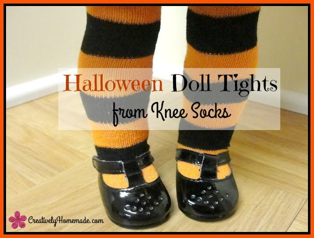http://creativelyhomemade.com/halloween-doll-tights-from-knee-socks/