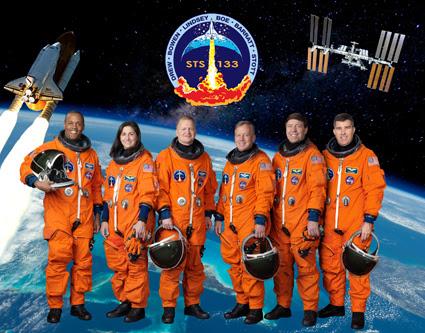 STS133-S-002 -- STS-133 crew portrait